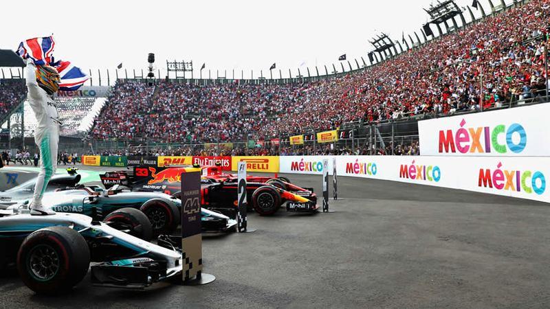 Lewis Hamilton obtiene su quintó título de Fórmula Uno en México