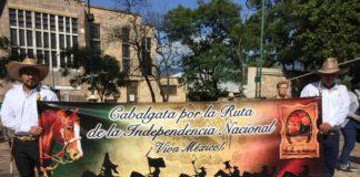 Arranca cabalgata por la ruta de la independencia nacional