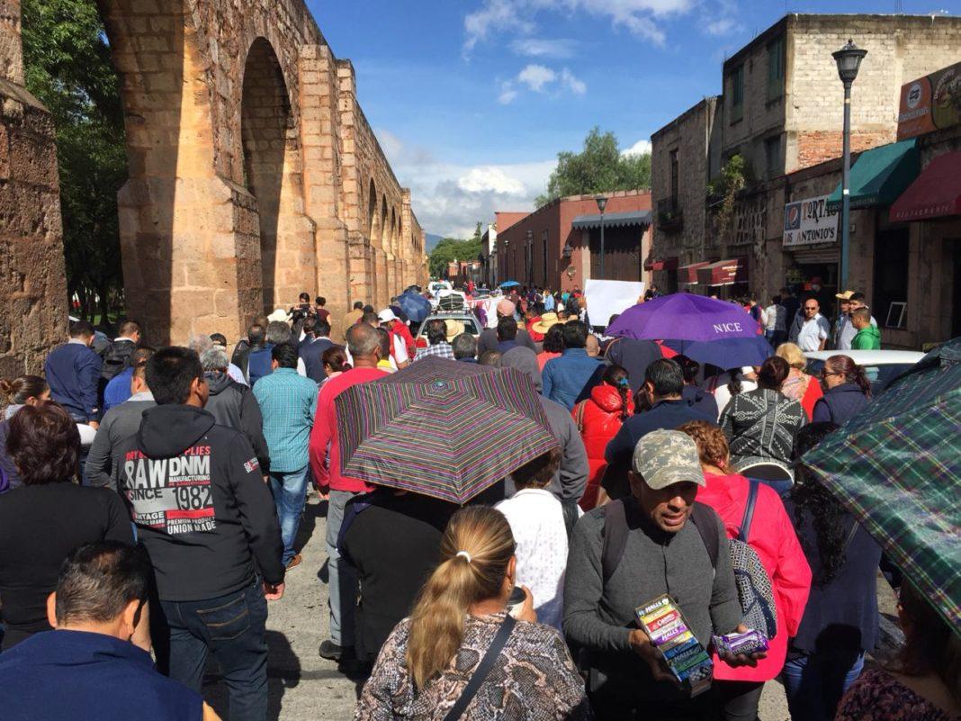 Morón confía que con federalización, marchas en Morelia bajarán