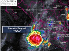 Se forma la tormenta tropical Tara en el Pacífico