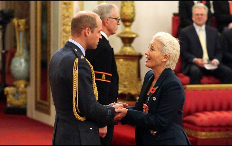 Emma Thompson condecorada con título de dama del Imperio Británico