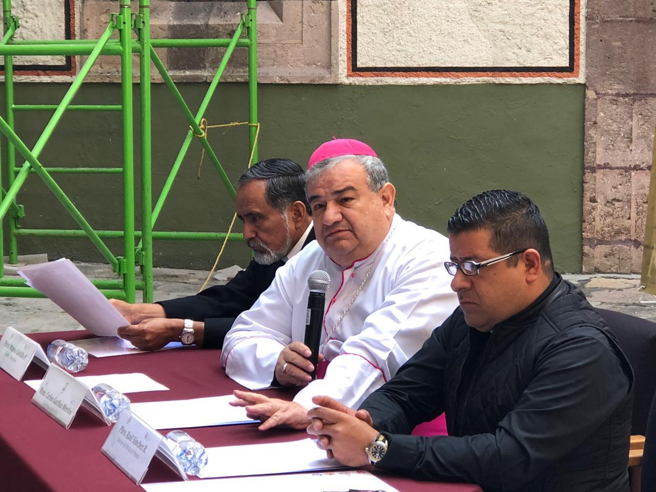 Propone arzobispo participación ciudadana en temas de seguridad