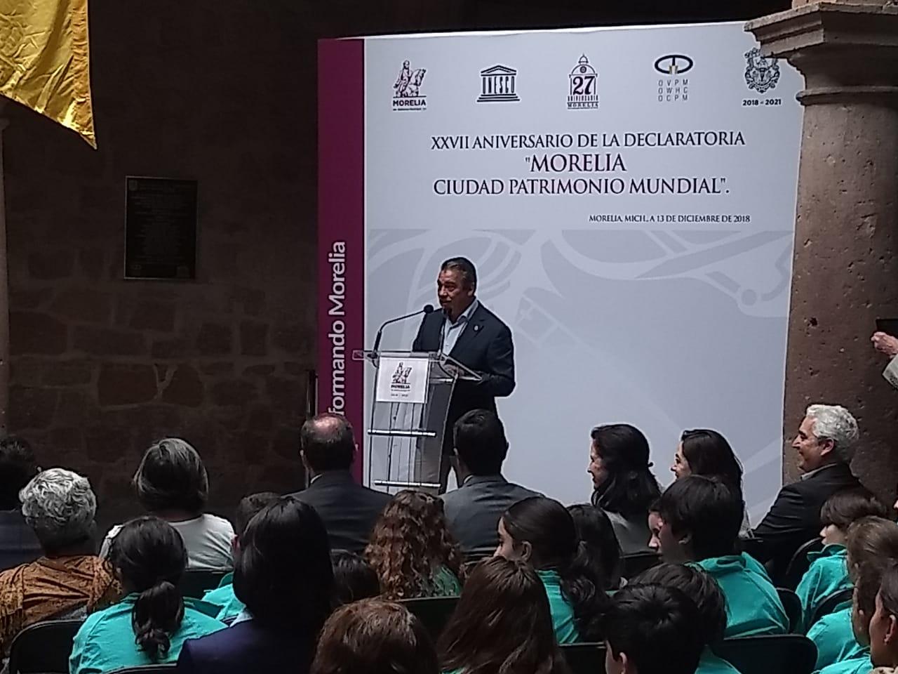 Pese a conflictos, Morelia celebra 27 años de ser patrimonio mundial