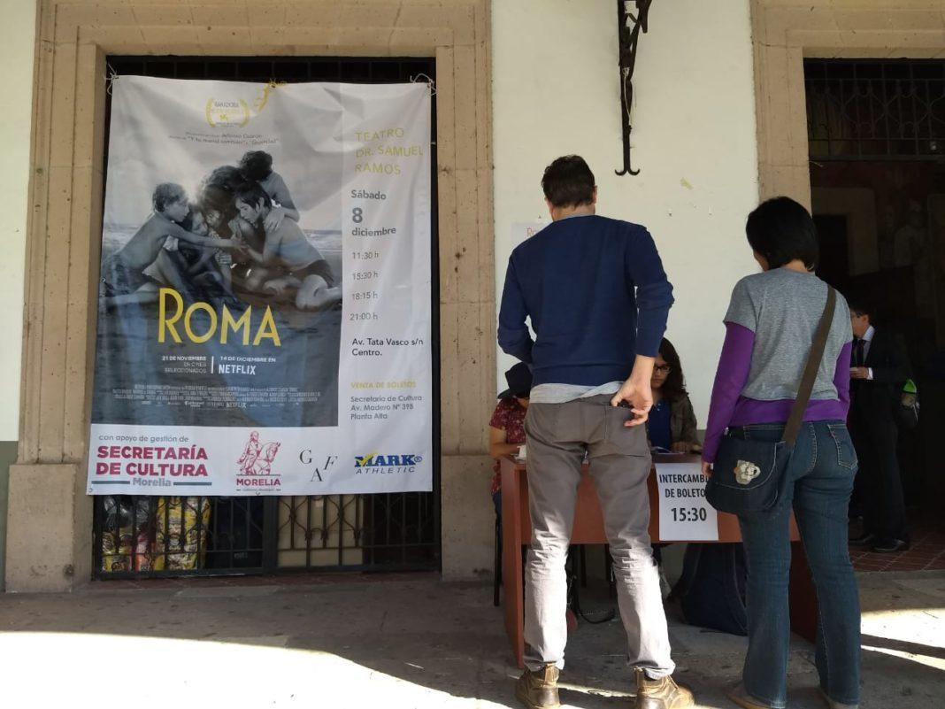 """""""Roma"""" llega a Morelia"""