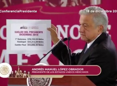 Regresa AMLO parte de su quincena