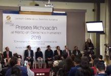 CEDH entrega Presea Michoacán al Mérito en Derechos Humanos 2018