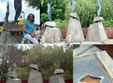 Usuarios de Facebook dan a conocer robo de escultura en Morelia