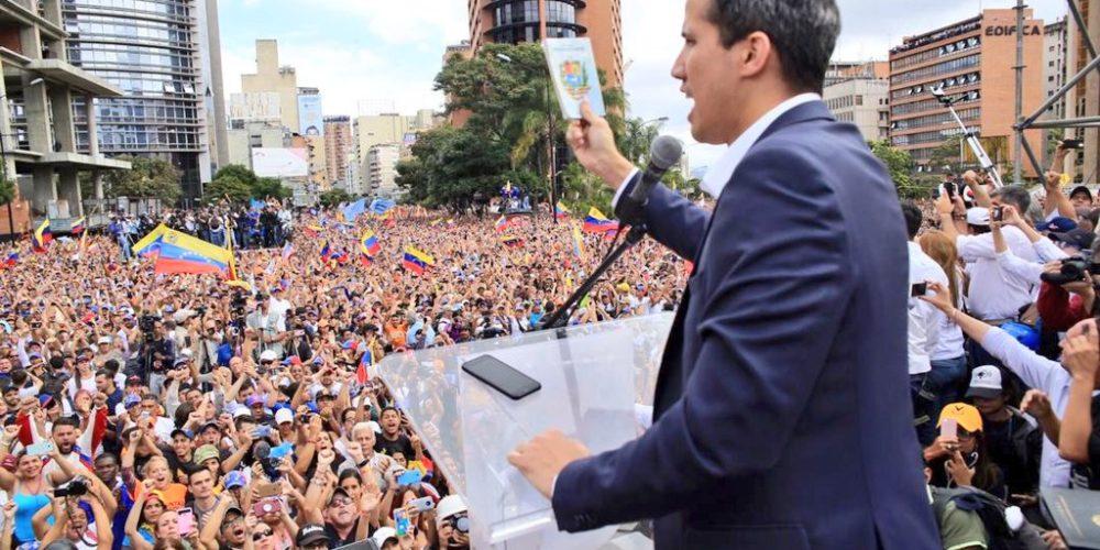 Reitera EU respaldo a Juan Guaidó