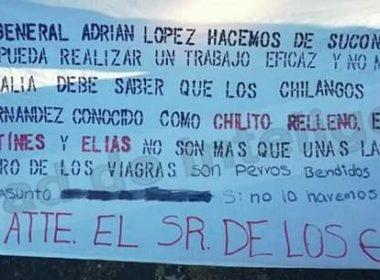 Aparece narcomanta dirigida a Fiscal General de Michoacán