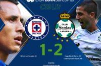 Cae Cruz Azul ante Santos