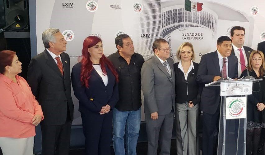 Senadores de Morena apoyan a Armenta para Puebla