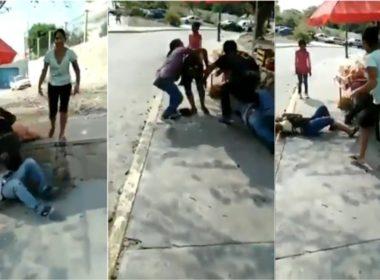 #VIDEO Golpean hondureños a comerciantes de Chiapas