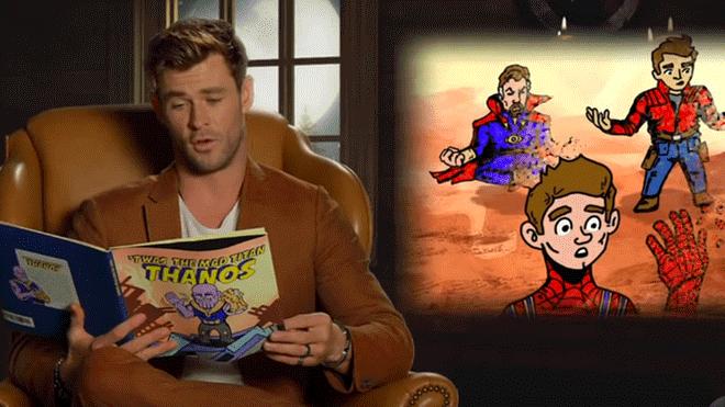 Avengers convierten 'Infinity War' en cuento infantil