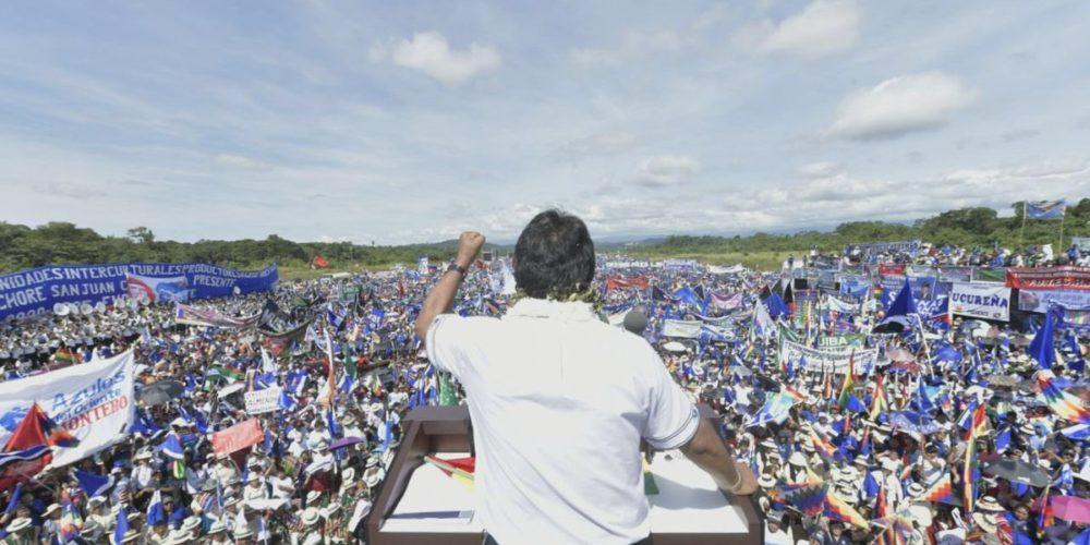 Inicia Evo Morales campaña presidencial para cuarto mandato