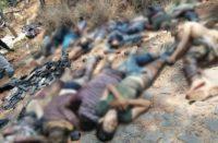FGE cuantifica 10 muertos en enfrentamiento en Uruapan; fotografías muestran hasta 13