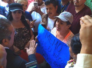 Simpatizantes de Memo Valencia, exigen renuncia de Raúl Morón