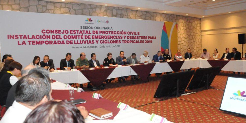 Michoacán, listo para la temporada de lluvia y huracanes: Carlos Herrera