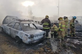 Se registra incendio en corralón de Tarímbaro
