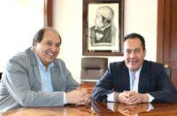 Carlos Herrera se reúne con Lázaro Cárdenas en Palacio Nacional