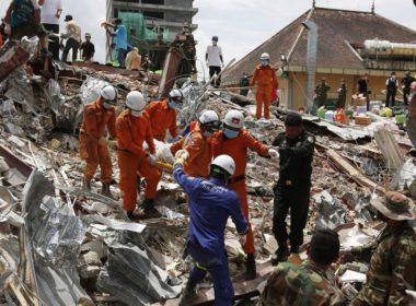 Incrementa número de muertos por derrumbe en Camboya