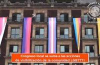 Congreso de CDMX se llena de banderas LGBT