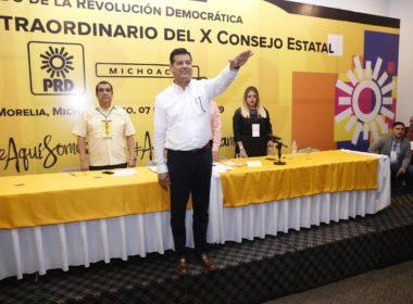 Llega Corona Martínez como presidente interino del PRD en Michoacán