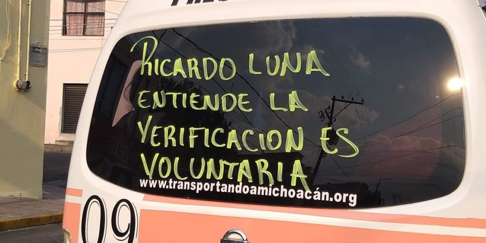 Gana CRT amparo contra verificación vehicular en Michoacán