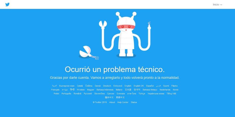 Twitter presenta fallas en su servicio