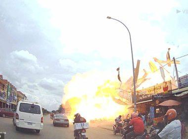 #Video Explota gasolinera clandestina en Camboya