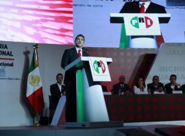 Protesta Alejandro Moreno como nuevo dirigente del PRI