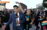 Agreden a periodista durante protesta