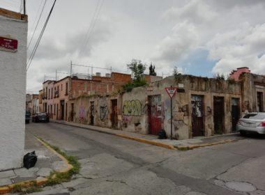 40 reportes de posible desprendimiento en casas abandonadas del centro de Morelia