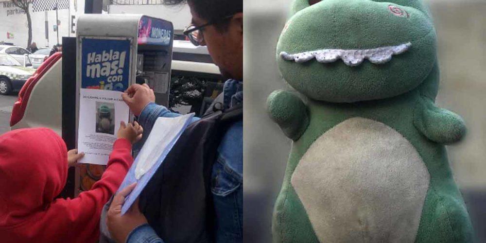 """Niño pide ayuda para encontrar su """"babysaurio"""""""