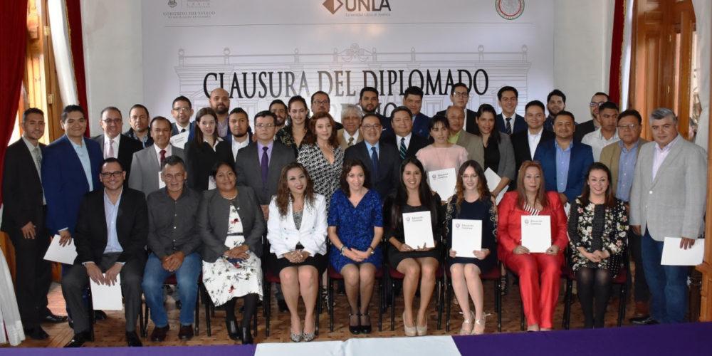 Concluyen diputados y secretarios técnicos Diplomado en Derecho y Prácticas Parlamentarias