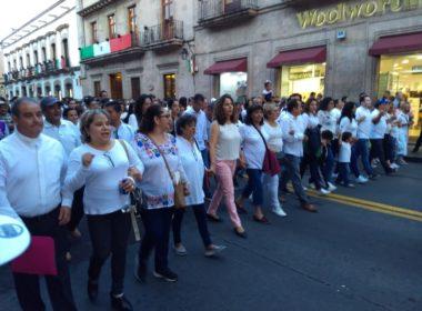 Para Morón, marcha por la paz, contribuye a la tranquilidad de Morelia