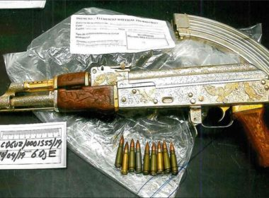 Aseguran arma de oro y planta presuntamente del líder del CJNG