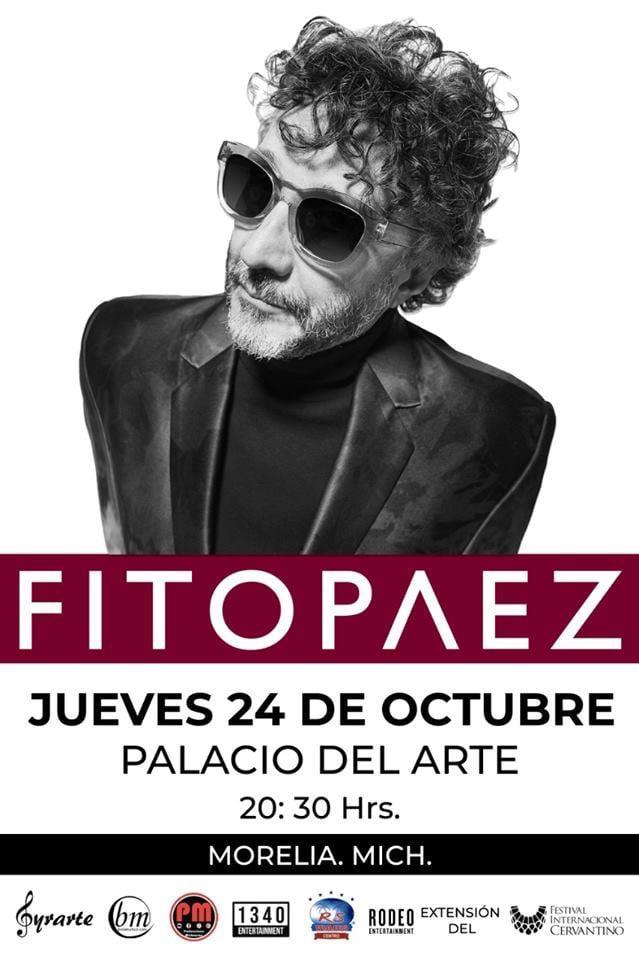 Fito Paez se presentará este jueves en Morelia