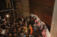 Con gas lacrimógeno dispersaron a alcaldes en Palacio Nacional
