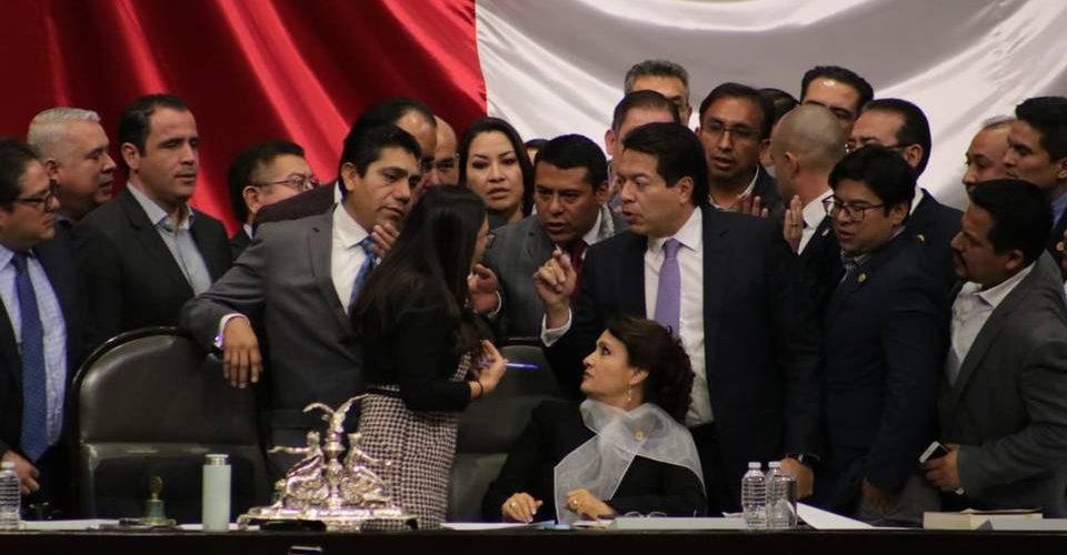 #Video Zafarrancho en la Cámara de Diputados