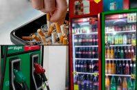 Sube precio de gasolinas, cigarros y bebidas