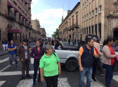 Colapsa Centro Histórico por manifestación de SUEUM