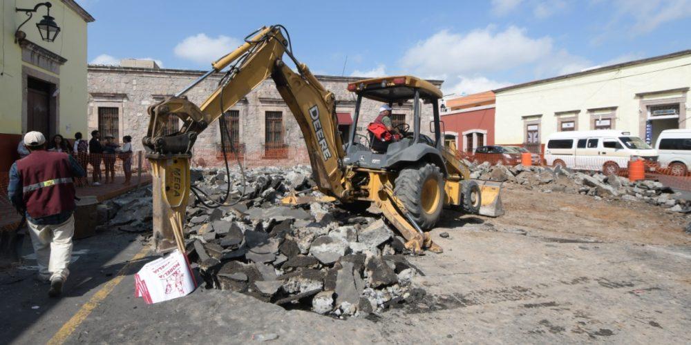 Autoridades desconocían complicaciones de obras en el Centro