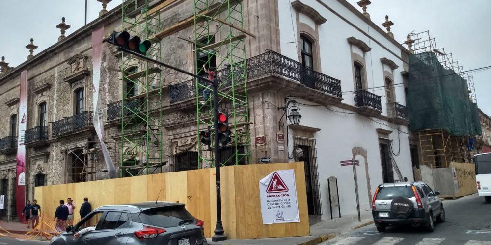 Durante restauración de edificio en Morelia, se encuentra vestigio histórico