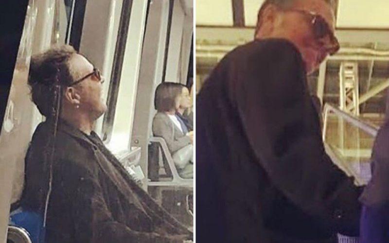 Luis Miguel viaja en metro de Madrid