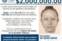 Difunden retrato hablado de mujer que se llevó a Fátima Cecilia