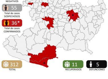 Suman ya 5 muertes por coronavirus en Michoacán
