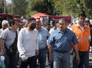 Supervisa Raúl Morón aplicación de medidas sanitarias
