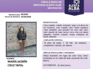 Activan Alerta Alba por María Jazmín Cruz Tapia