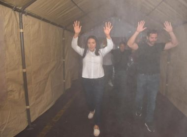 Instala Jacona túneles sanitizantes ante coronavirus