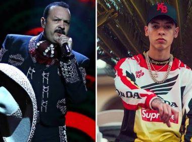 Pepe Aguilar se pelea con cantante de corridos tumbados